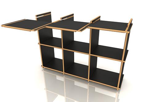 steckwerk aufbauanleitung aufbauanleitung erweiterbares regalsystem. Black Bedroom Furniture Sets. Home Design Ideas