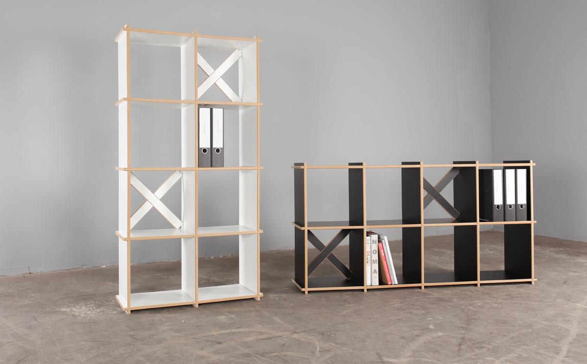 Das Steckregal kann als Lagerregal, Bücherwand, Raumteilerregal, Schuhregal, Barregal, Thekenregal, Fernsehregal, Kleiderregal, Getränkeregal oder auch als Leiterregal genutzt werden.
