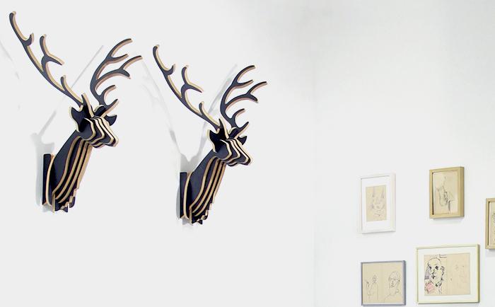 kreative wandgestaltung und funktionale garderobe der steckwerk hirsch aus holz bietet neue auergewhnliche ideen fr modernes wohnen - Kreative Ideen Aus Holz