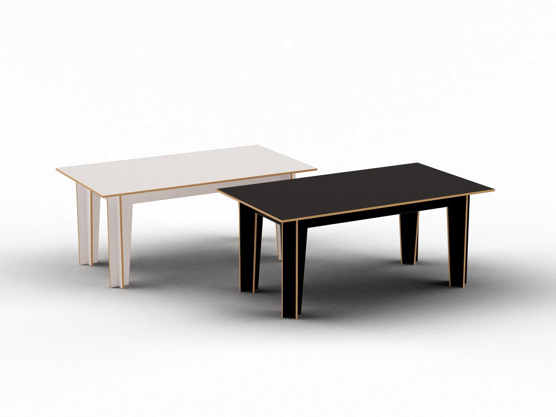 Bürotisch oder Computertisch in weiß und schwarz